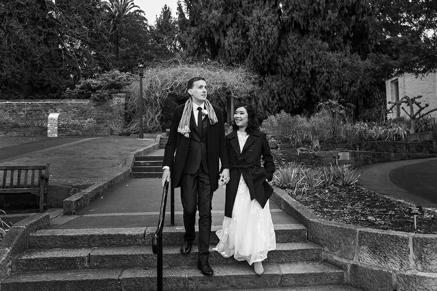 Hannah & John Wedding - The Royal Botanical Gardens HobartHobart - Sarah Eliza
