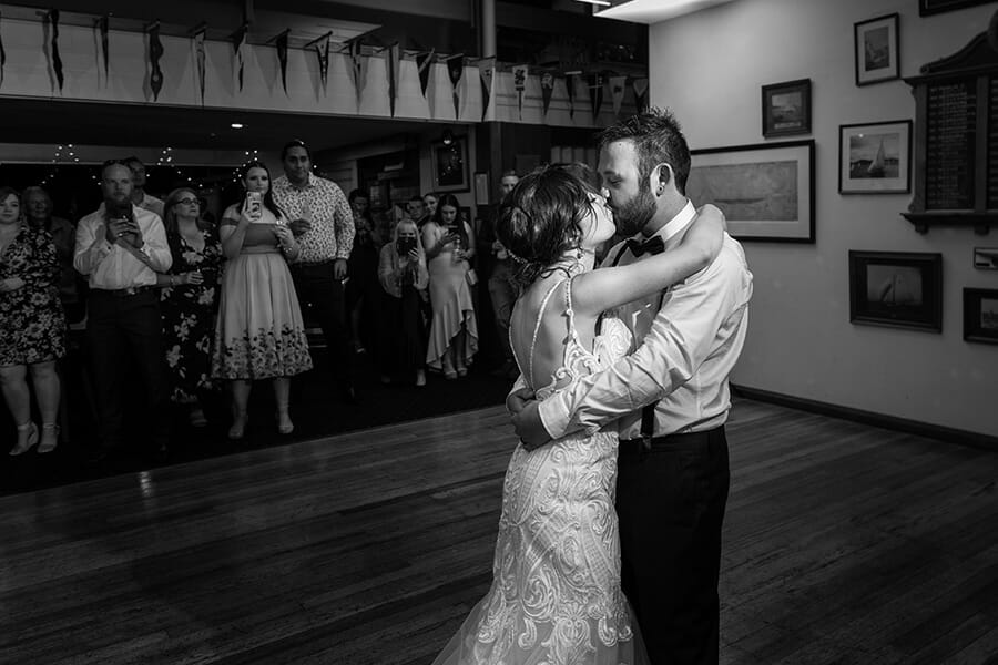 The Royal Yacht Club Hobart Wedding Photographer - Talise and Brad's wedding